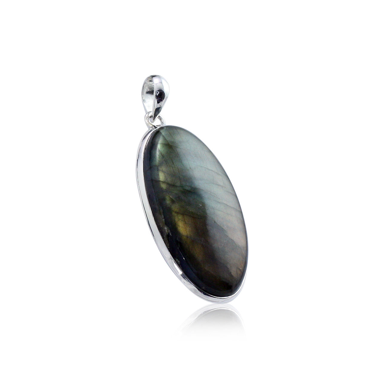 faceted product pendant balliet silver labradorite rectangular
