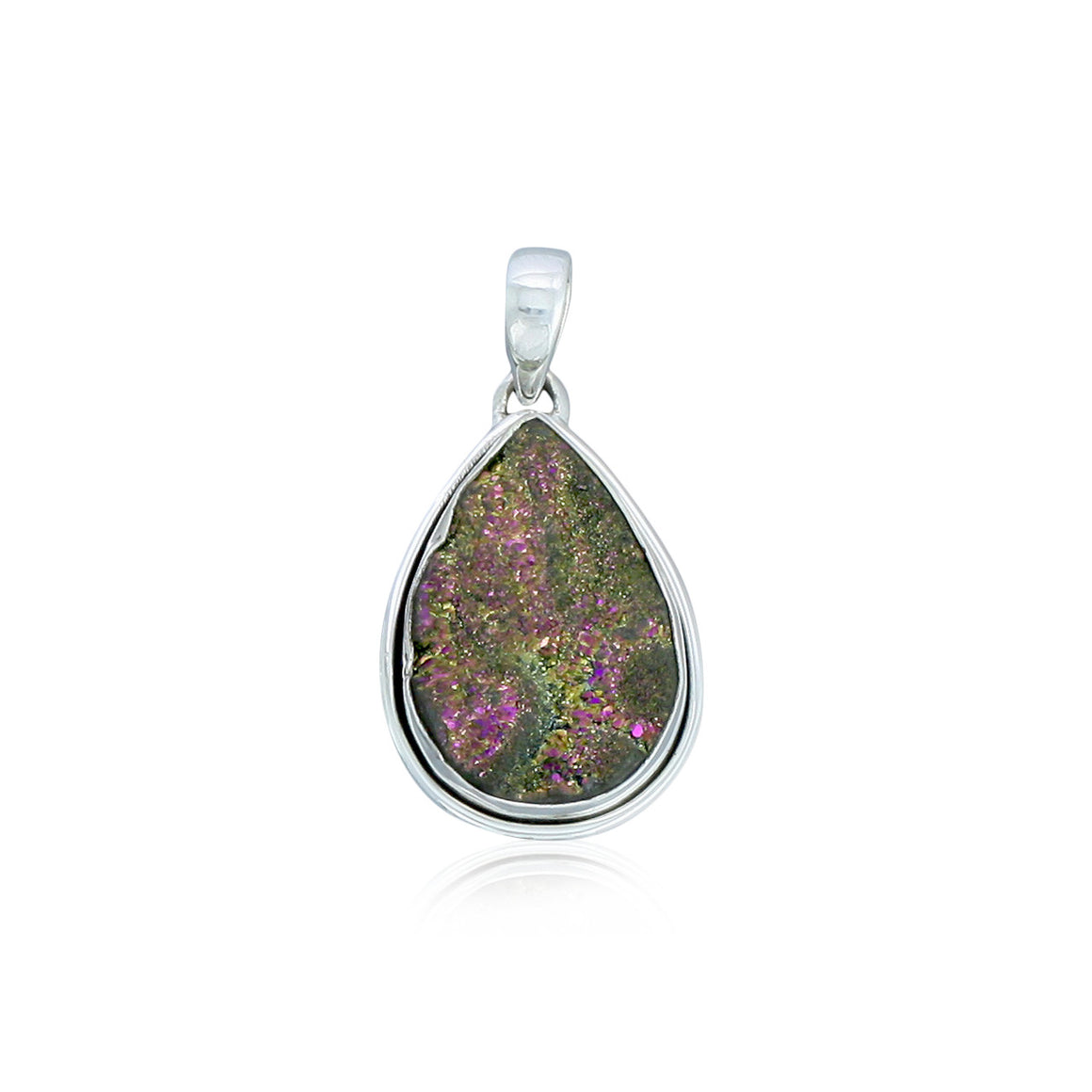 Pink Desert Drusy Pendant - One of a Kind