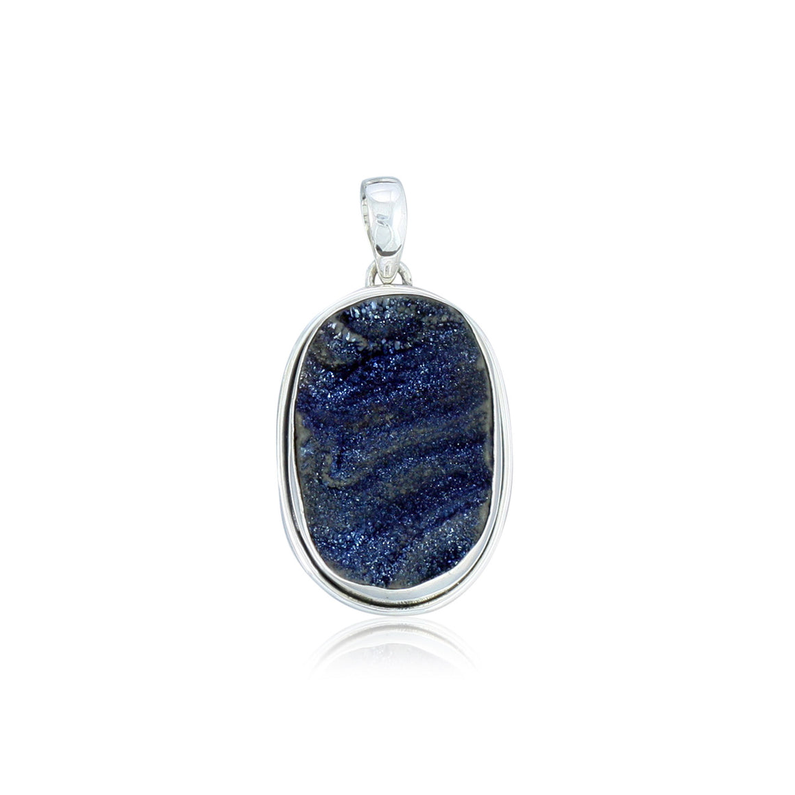 Blue Desert Drusy Pendant - One of a Kind
