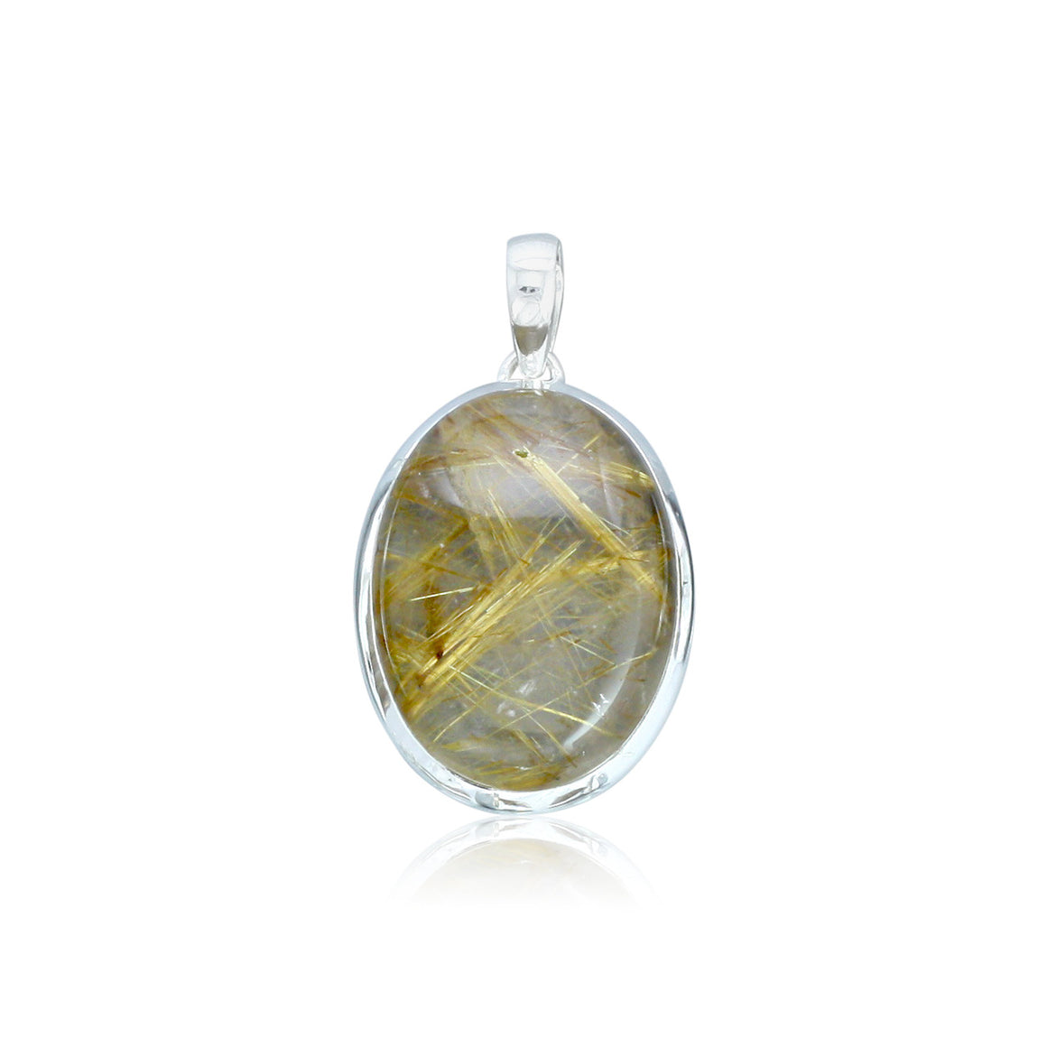 Golden Rutilated Quartz Pendant - One of a Kind
