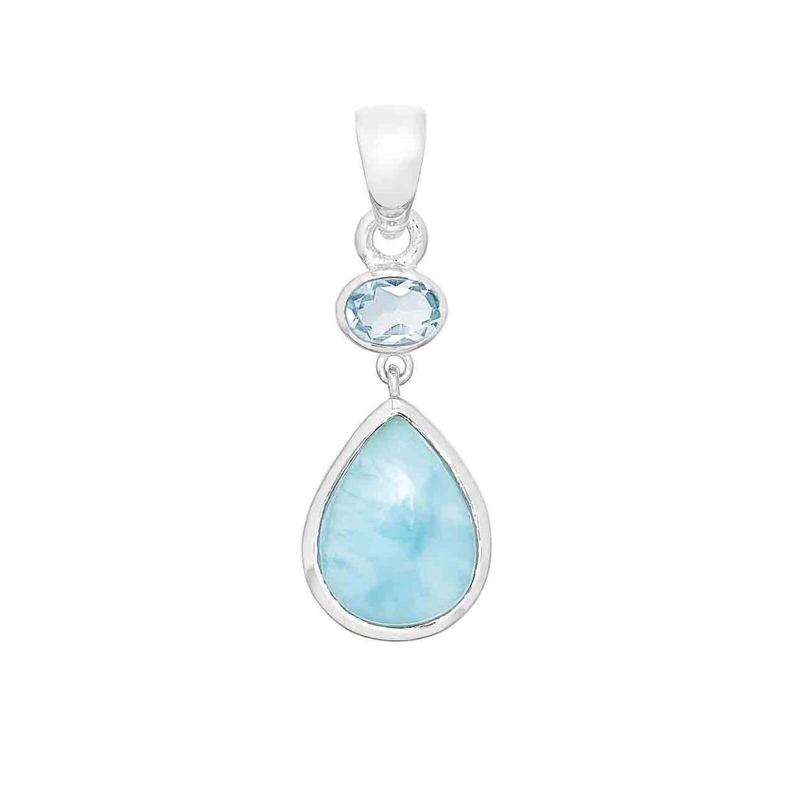 Larimar and Blue Topaz Pendant