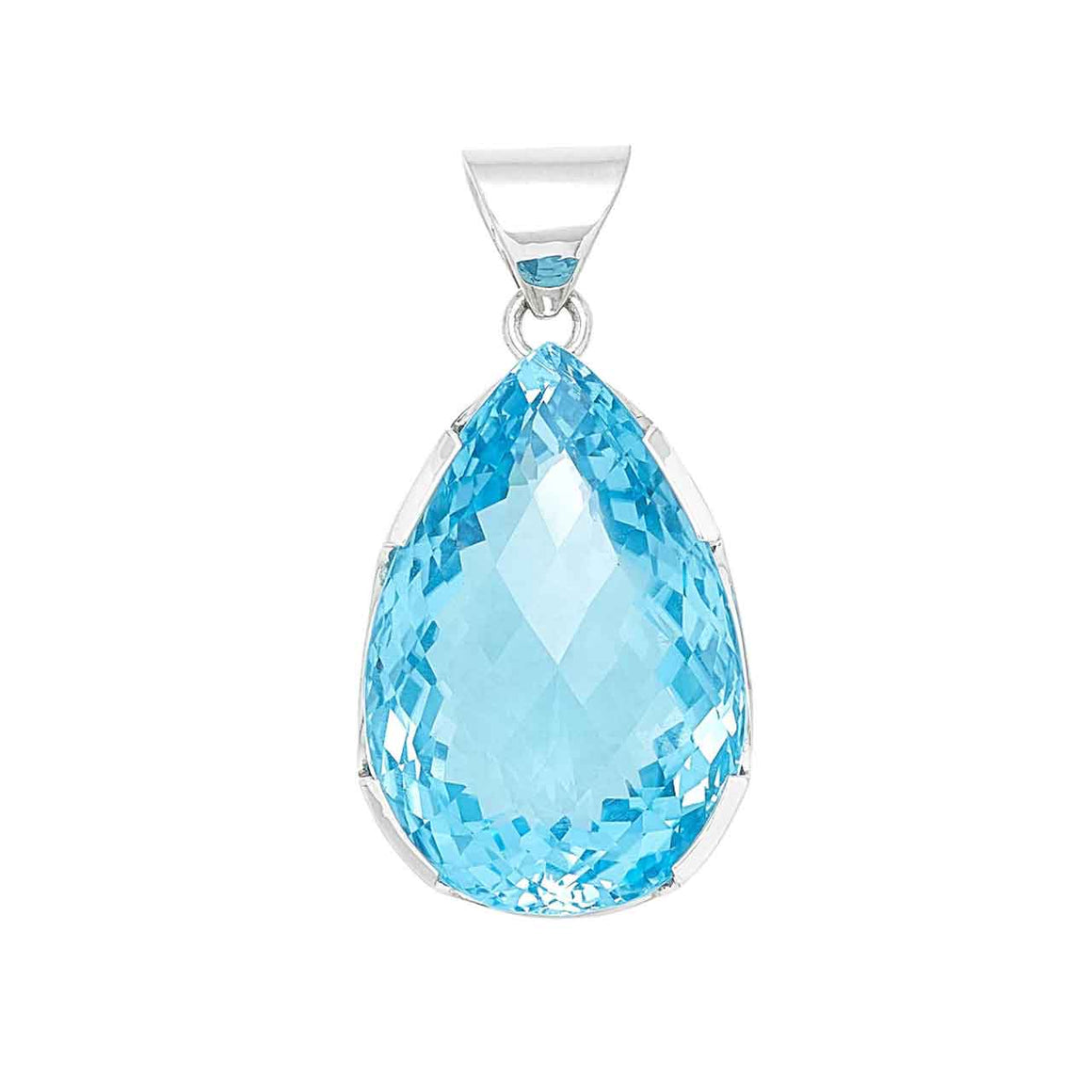 Limited Edition Swiss Blue Topaz Pendant