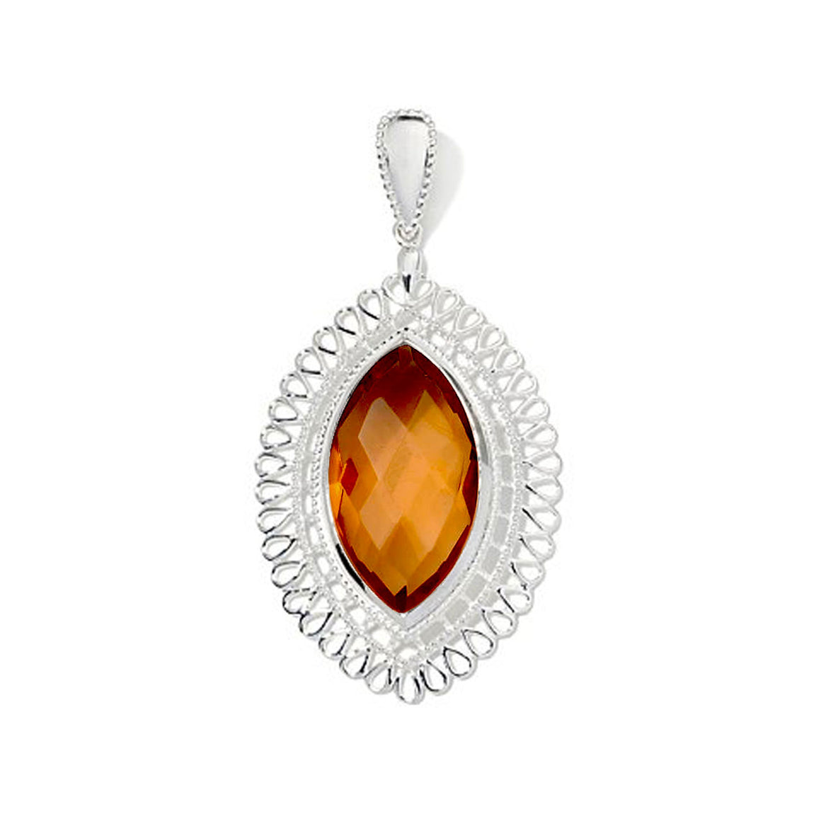Red Onyx Marquise Pendant