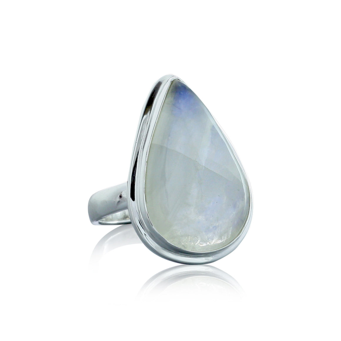 Rainbow Moonstone Ring - One of a Kind