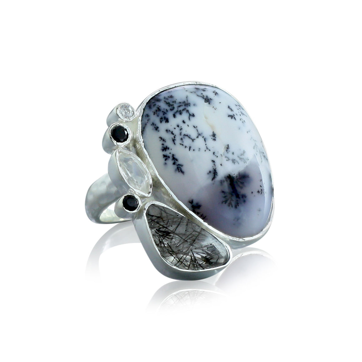 Dendritic Agate Ring - One of a Kind