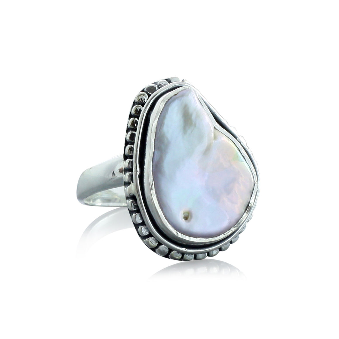 White Pearl Ring - One of a Kind