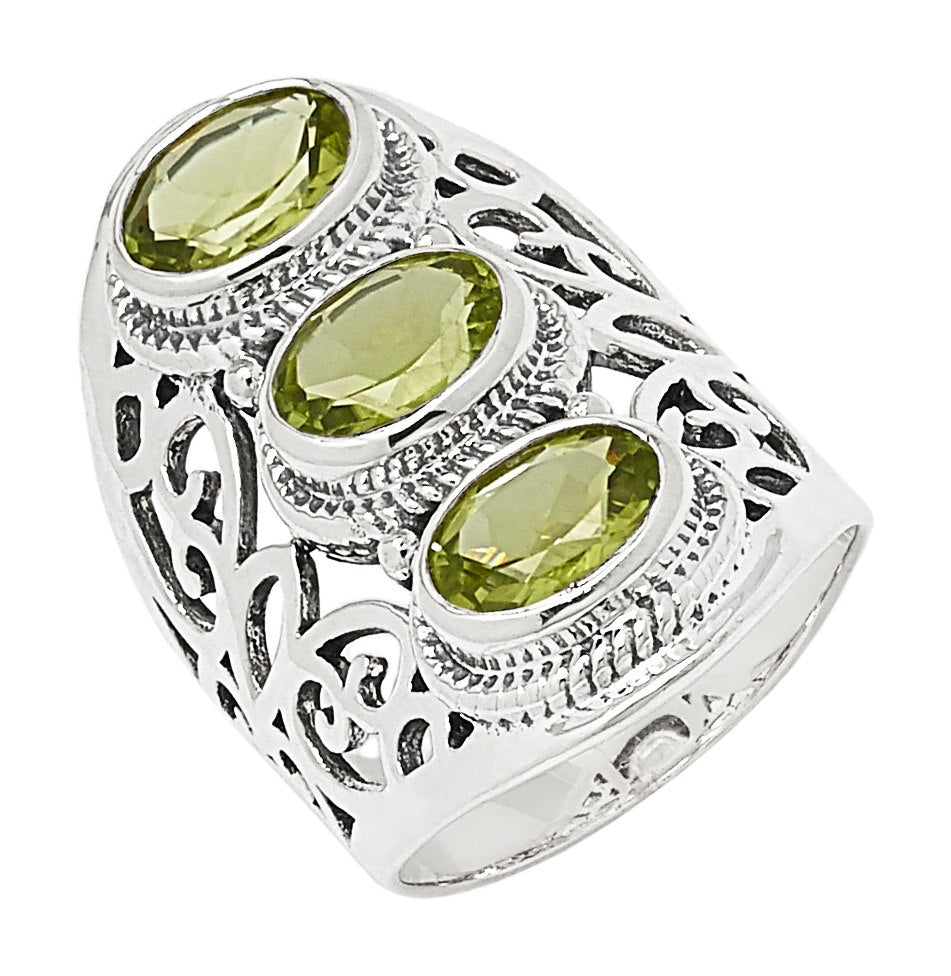 Peridot Triple Oval Ring