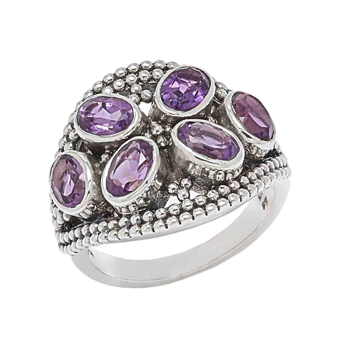 Multi Amethyst Ring