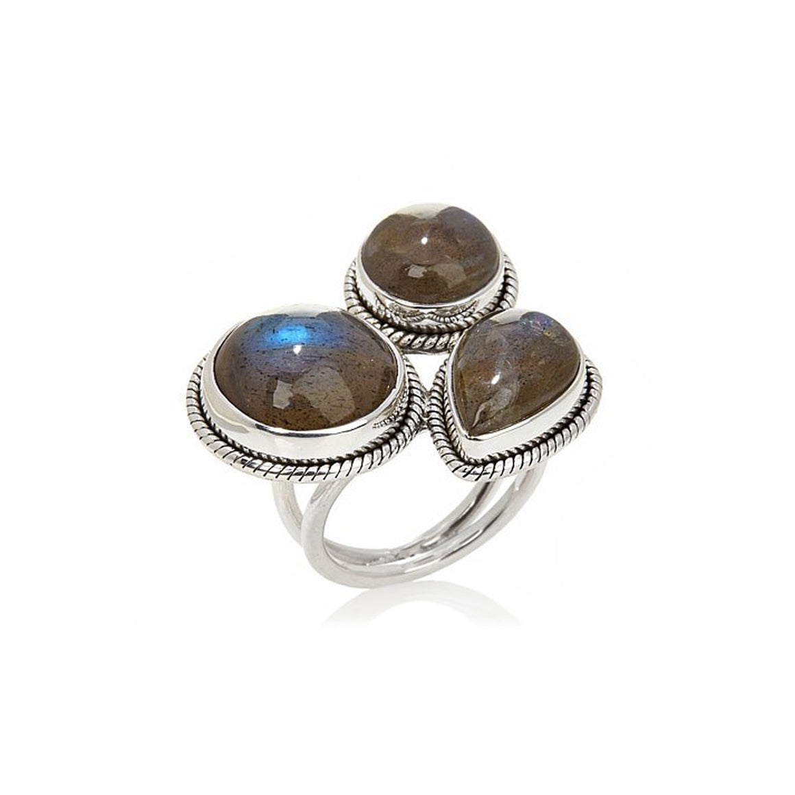 Labradorite Bubble Ring