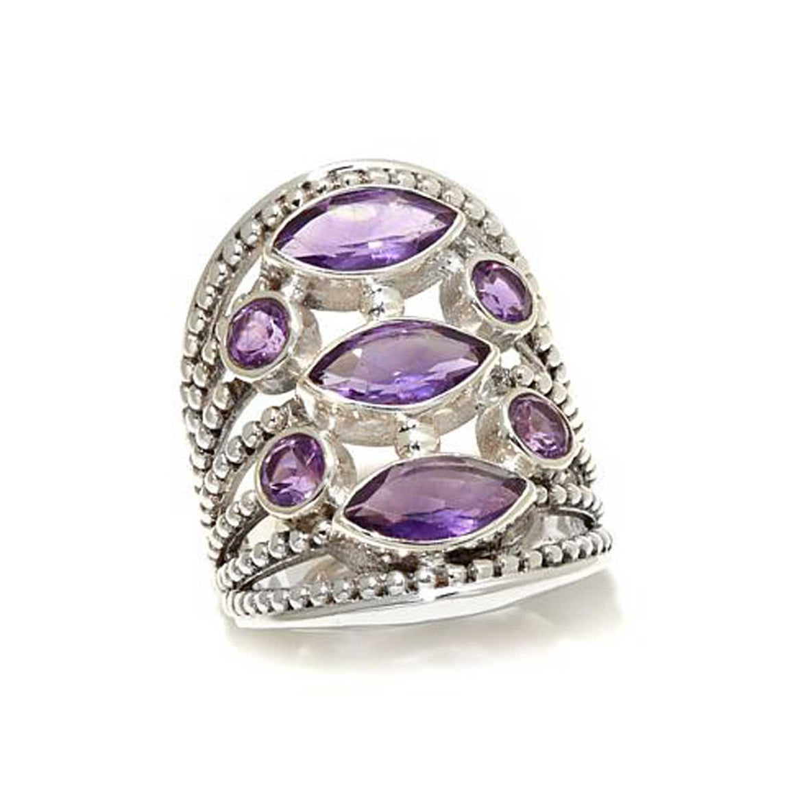 Amethyst Moonstone Ring