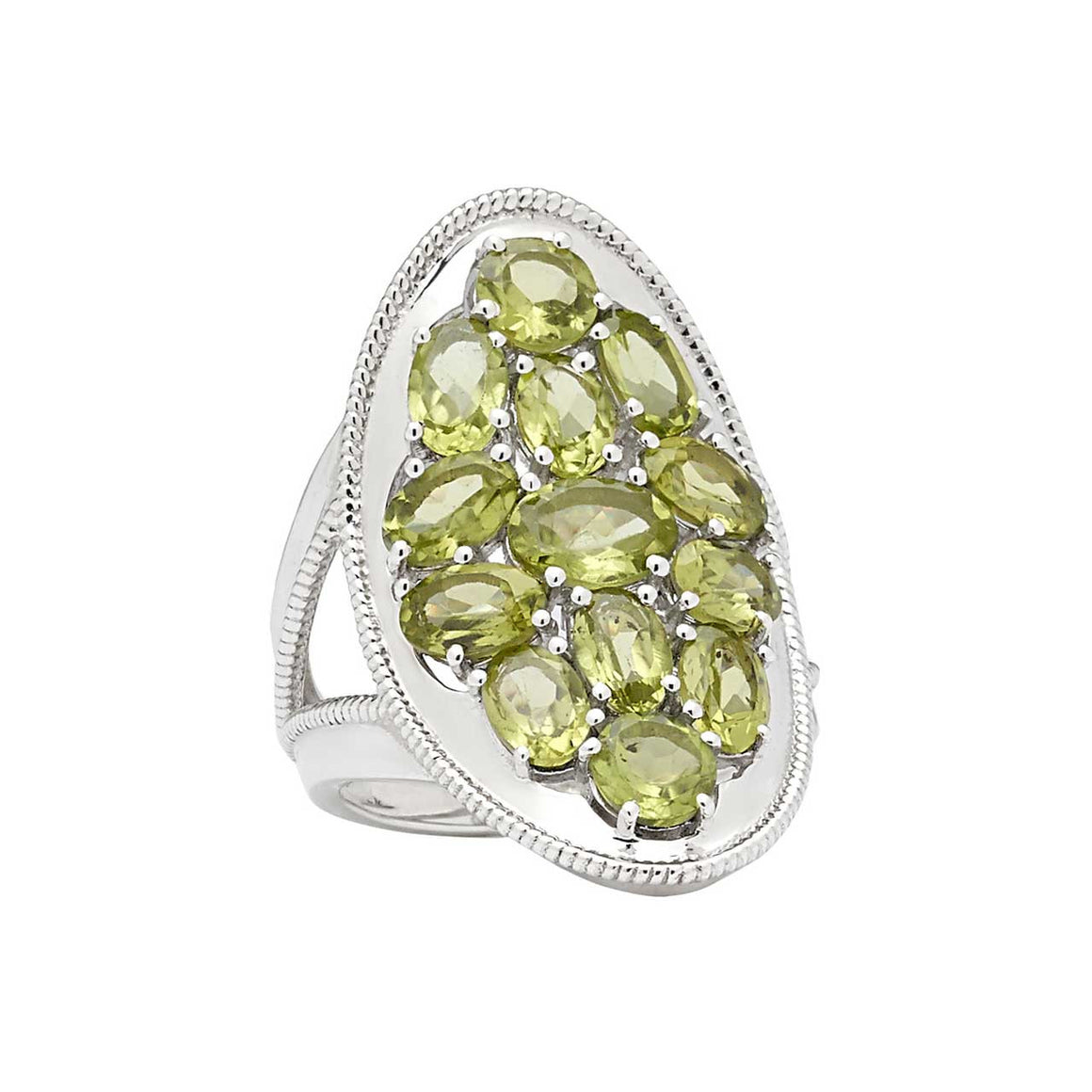Peridot Multi Stone Ring