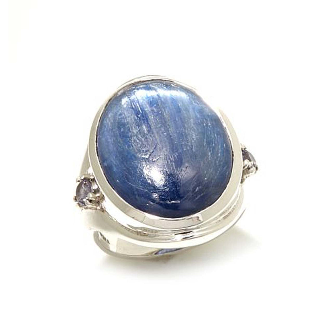 Kyanite and Iolite Gemstone Oval Ring