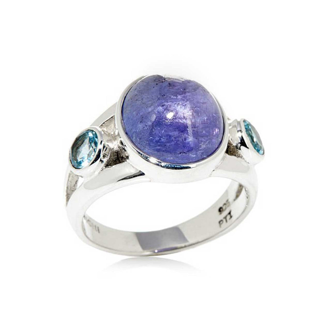 Tanzanite and Blue Topaz Ring