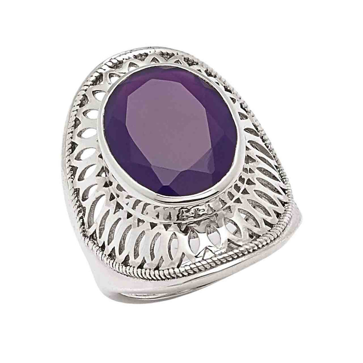 Purple Chalcedony Ring
