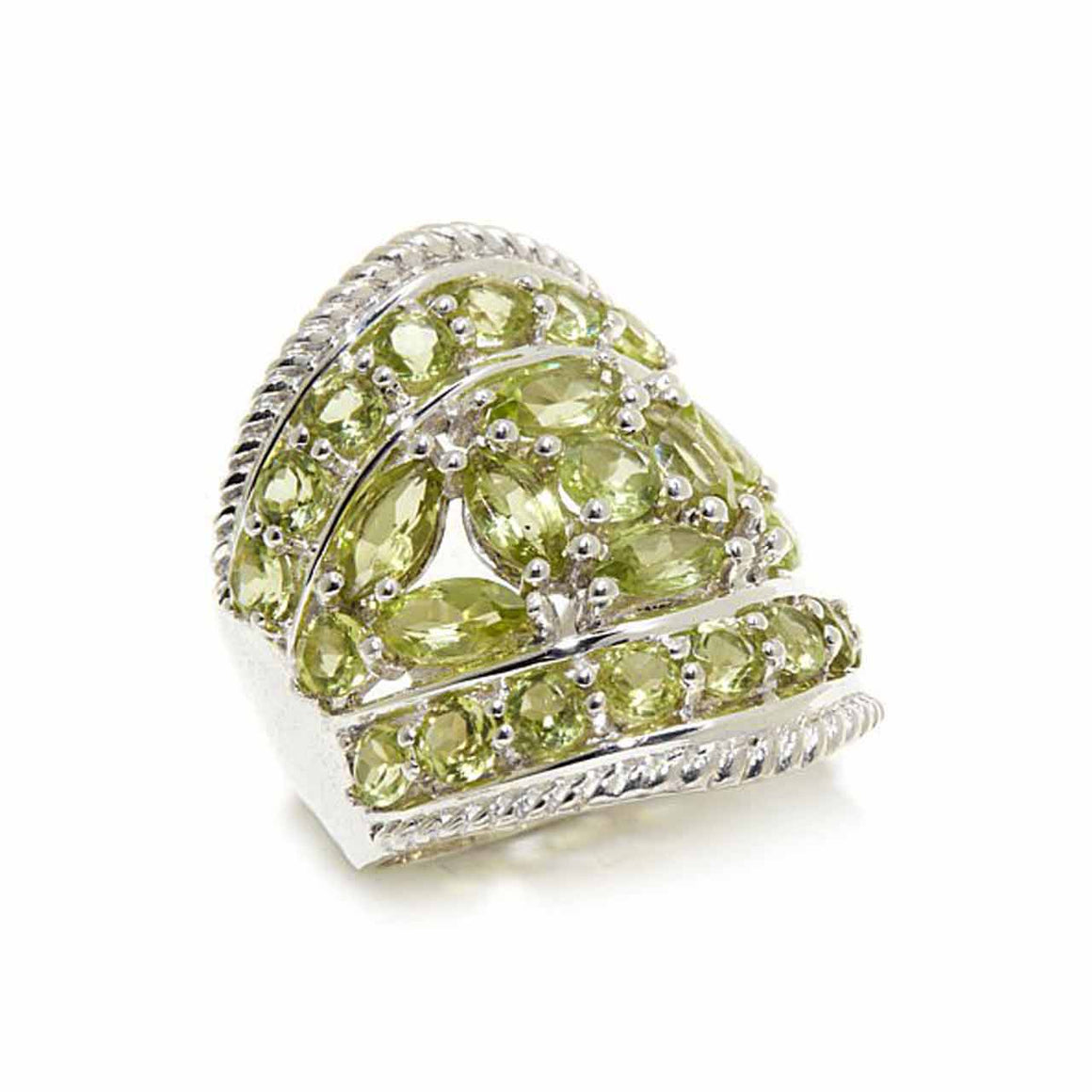 Peridot Pavé Set Ring