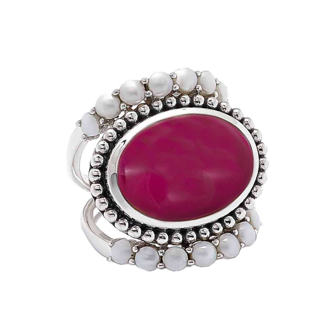 Alunite and Fresh Water Pearl Ring