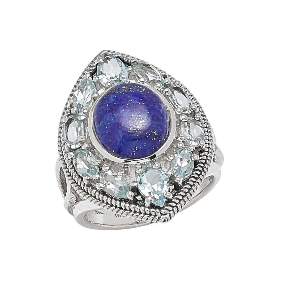 Lapis and Blue Topaz Ring