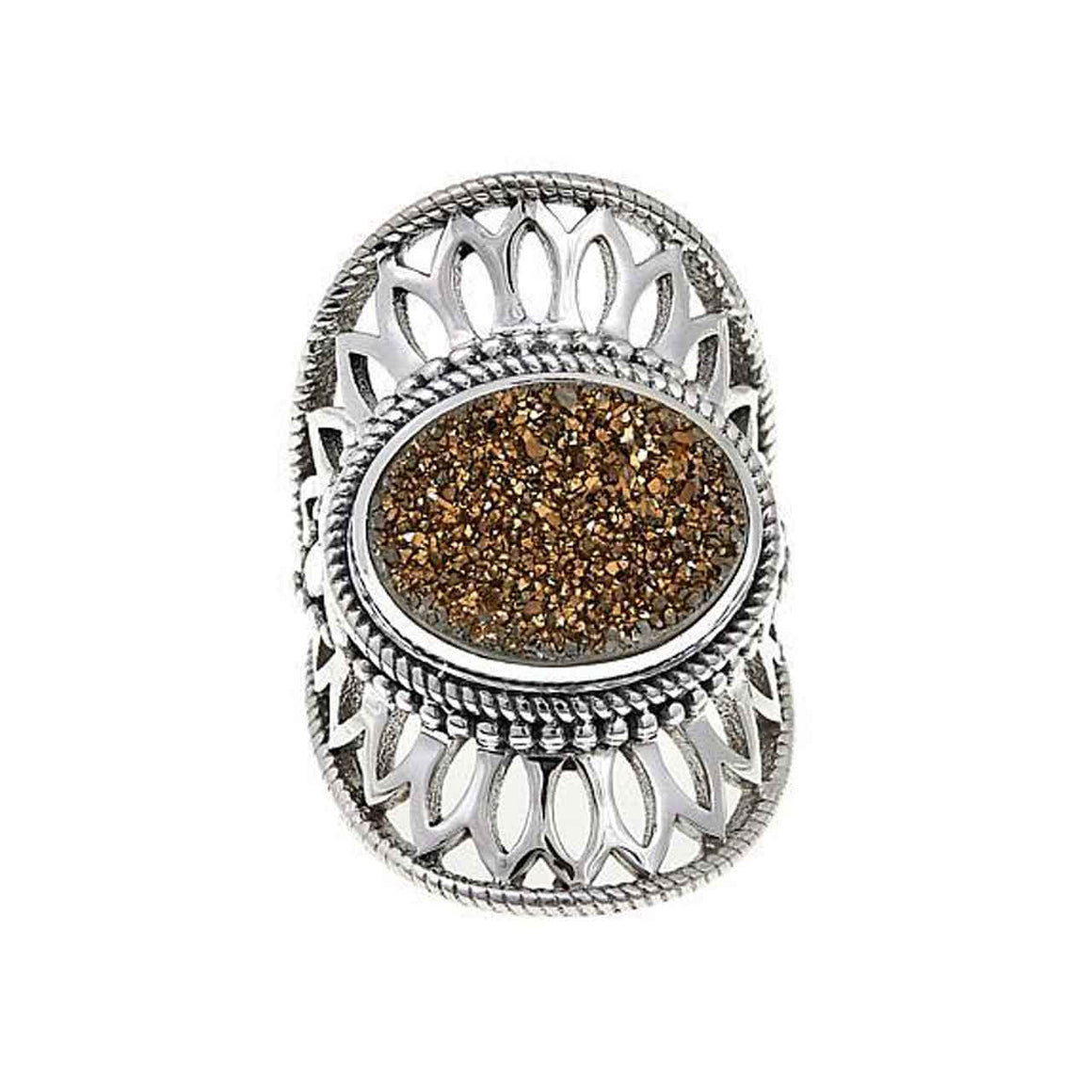 Gold Drusy Ring