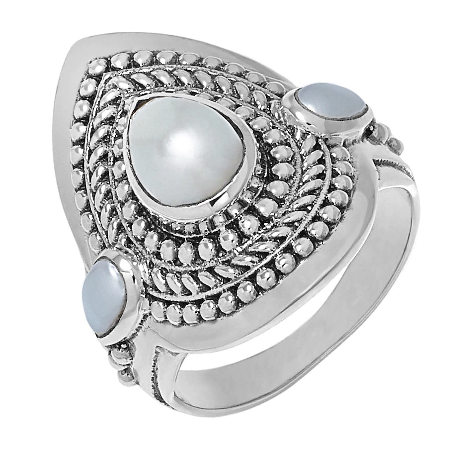 Sterling Silver Freshwater Pearl Ring