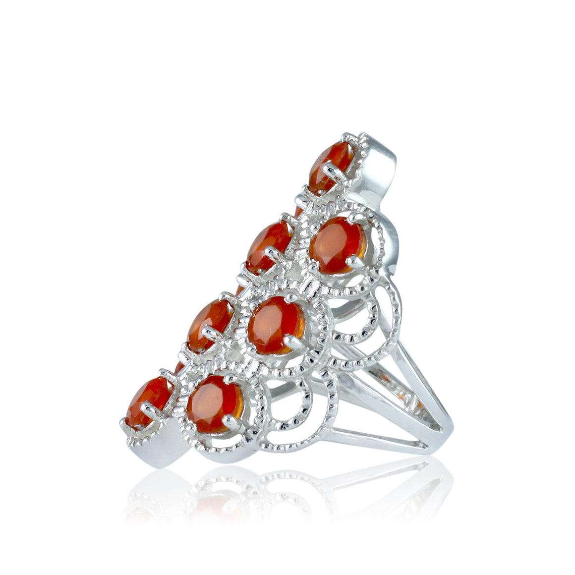 Red Onyx Multi Stone Ring