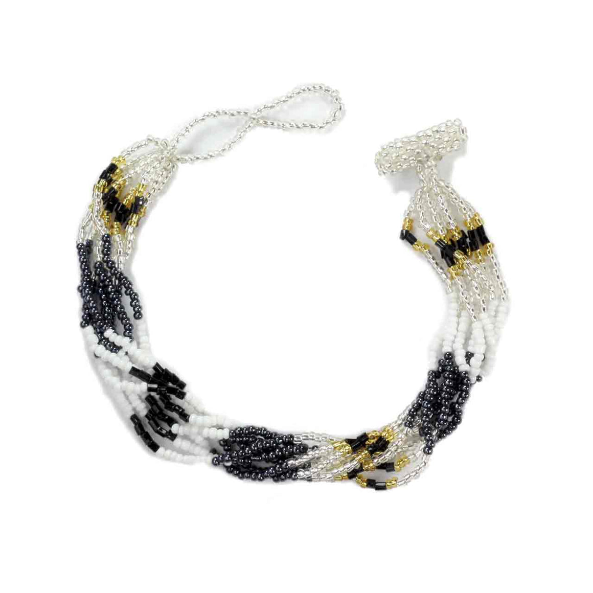 Black Multi 8 Strand Potay Bracelet