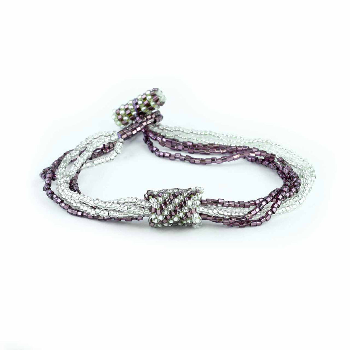 5 Strand Bracelet with Decorative Crocheted Spiral