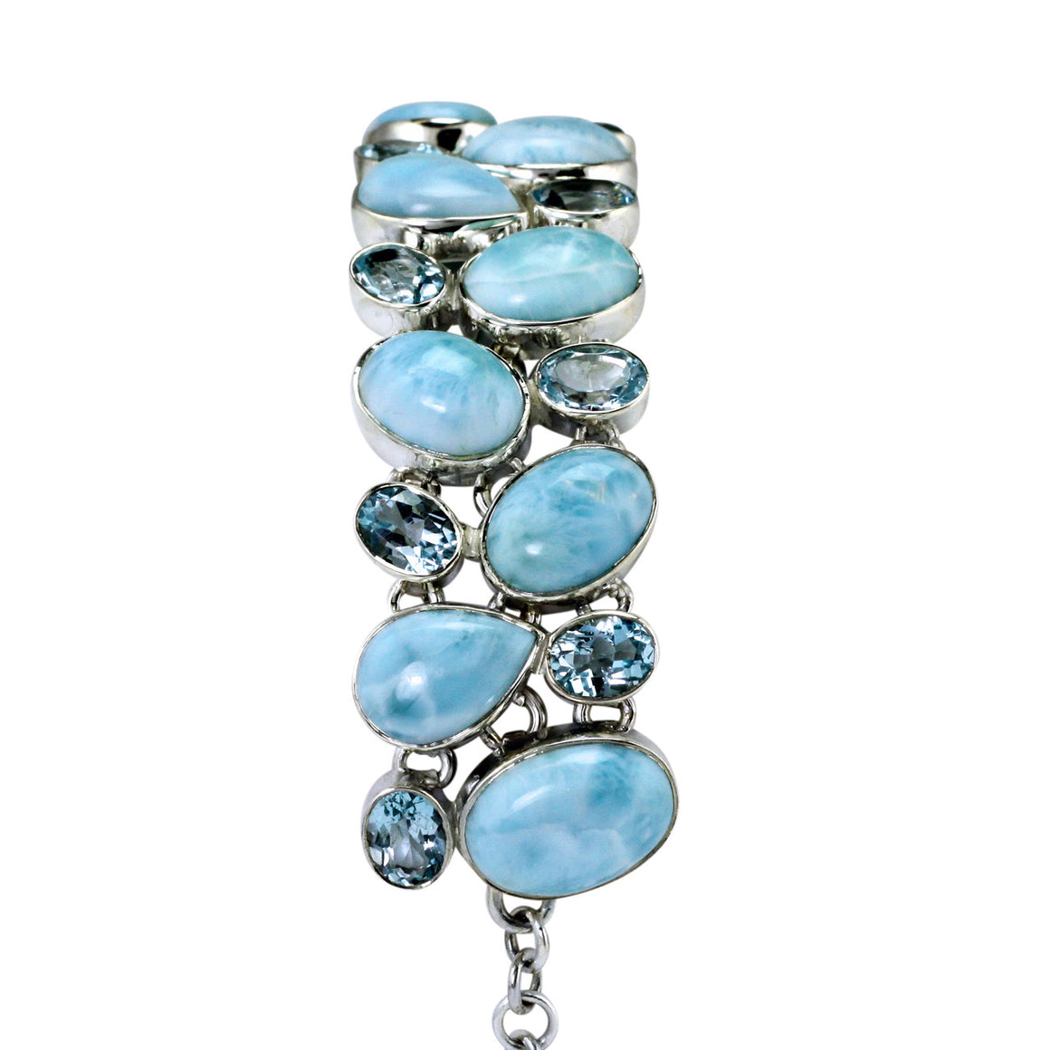 Larimar and Blue Topaz Multi Gemstone Bracelet