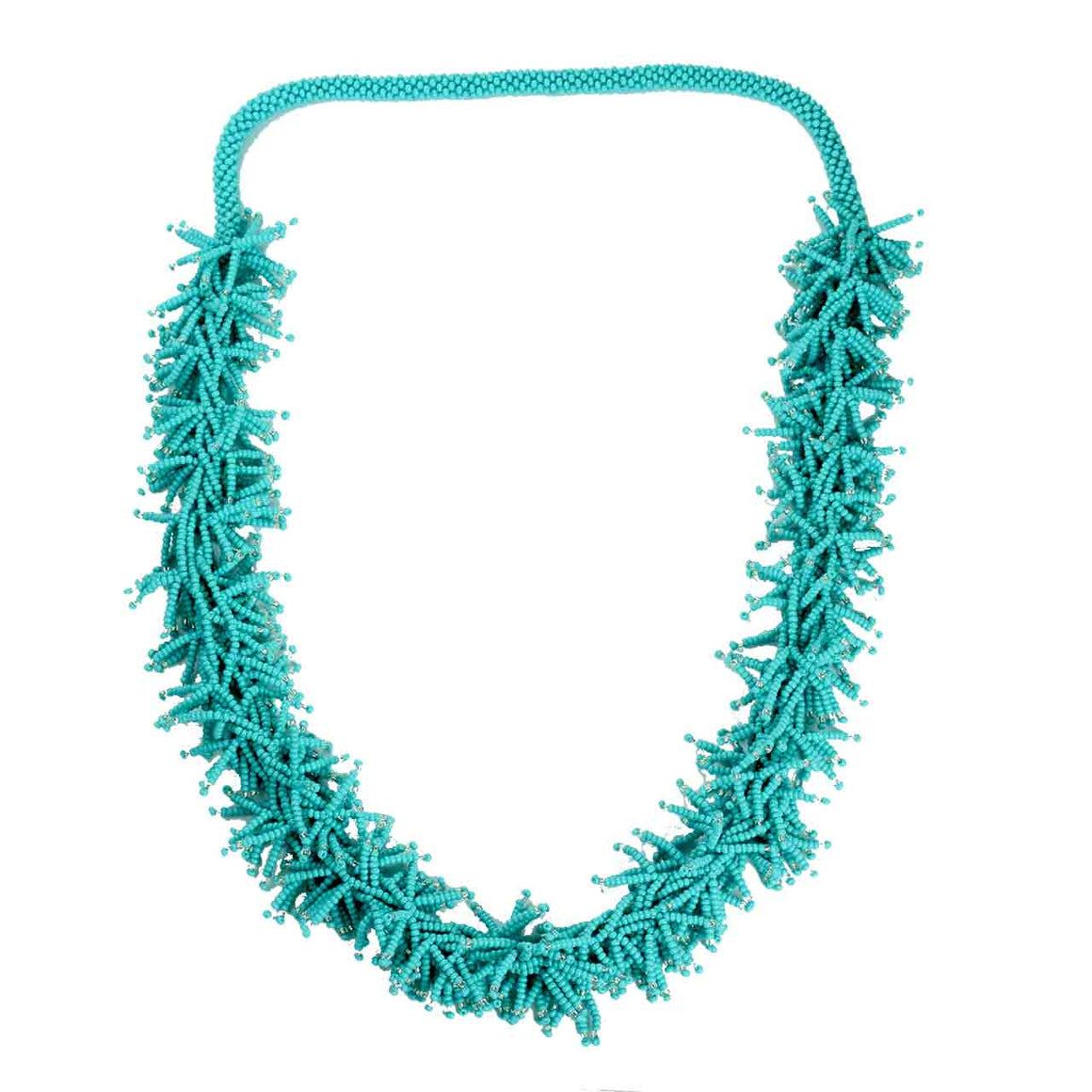 Beaded Potay Textured Necklace