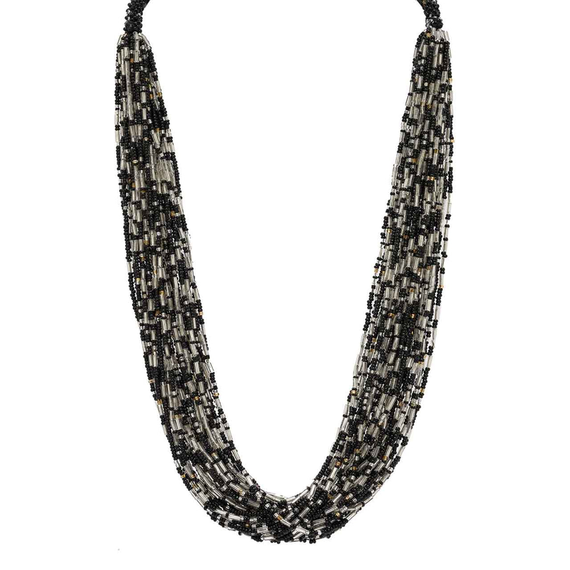 Black 30 Strand Potay Necklace