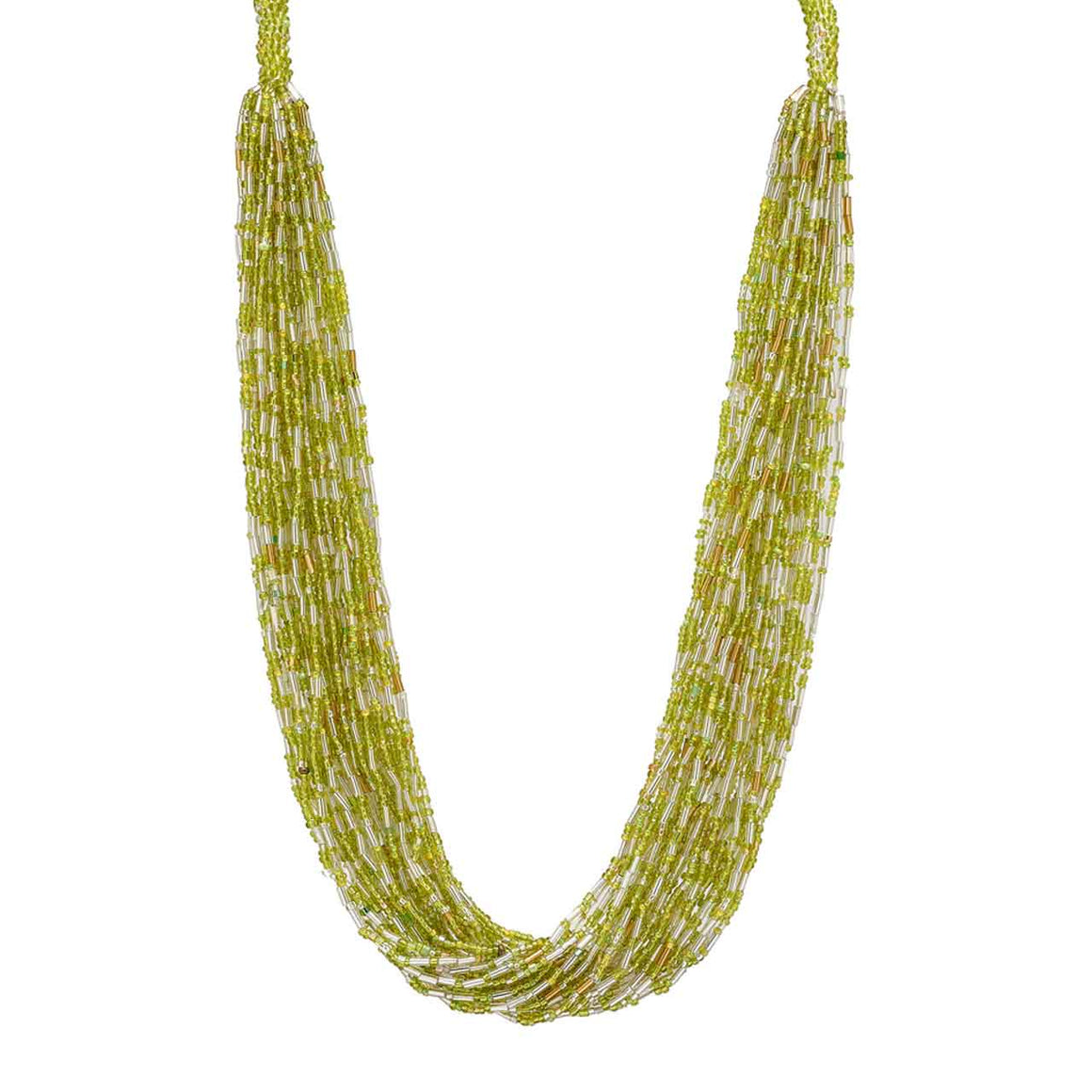 Green 30 Strand Potay Necklace