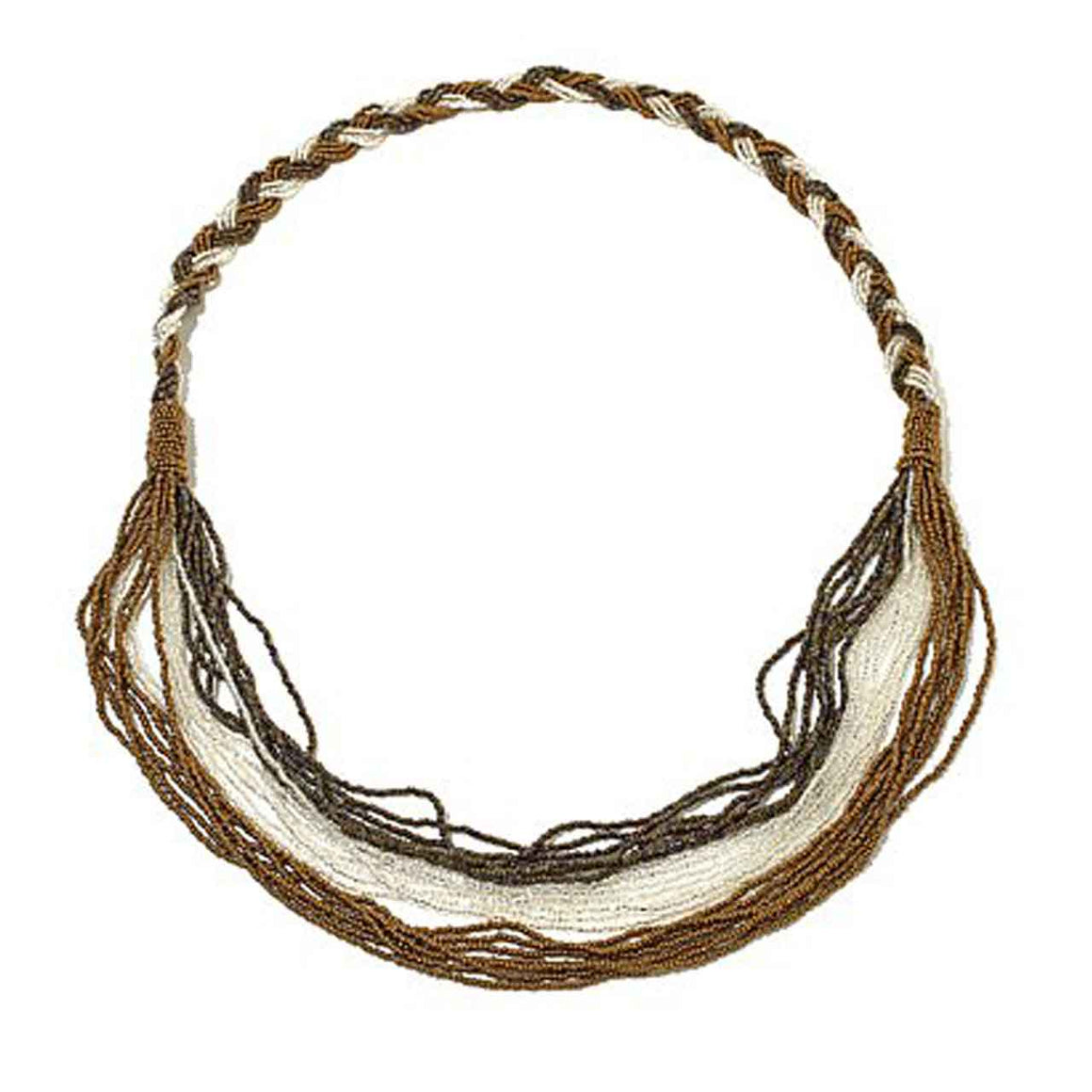 Bronze Potay Braided Waterfall Necklace