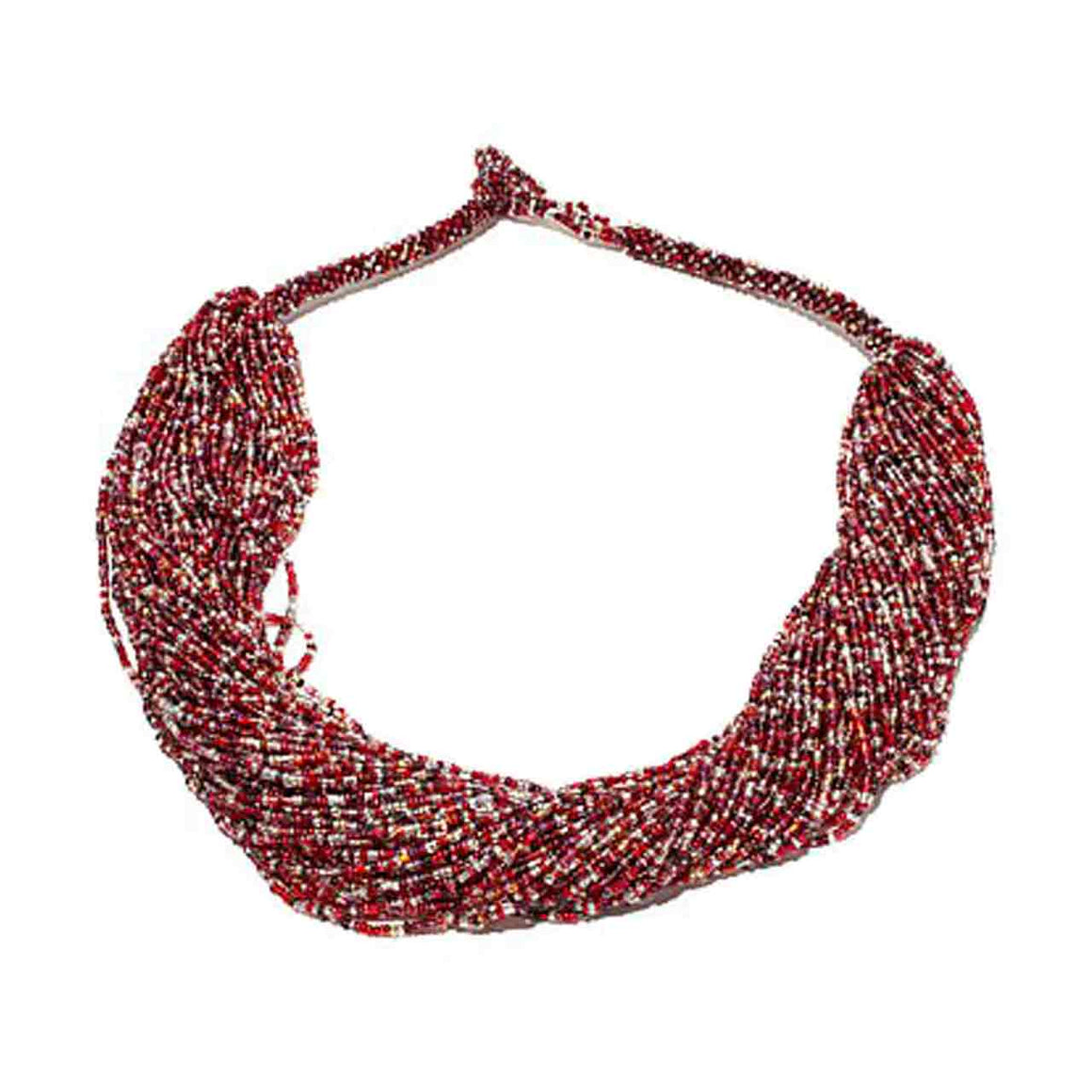 Multi Strand Berry Tone Potay Necklace