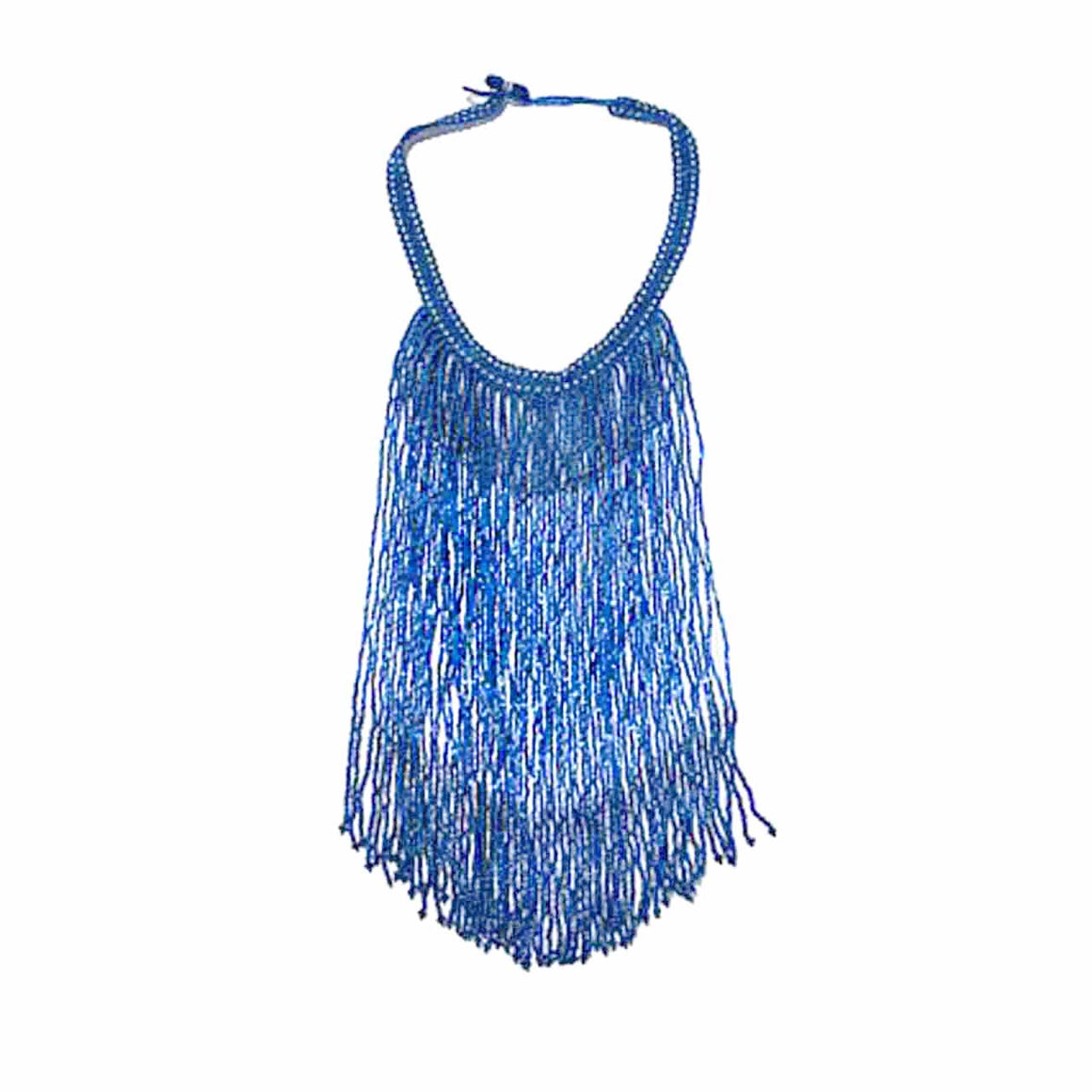 Lapis Colour Potay Fringe Necklace