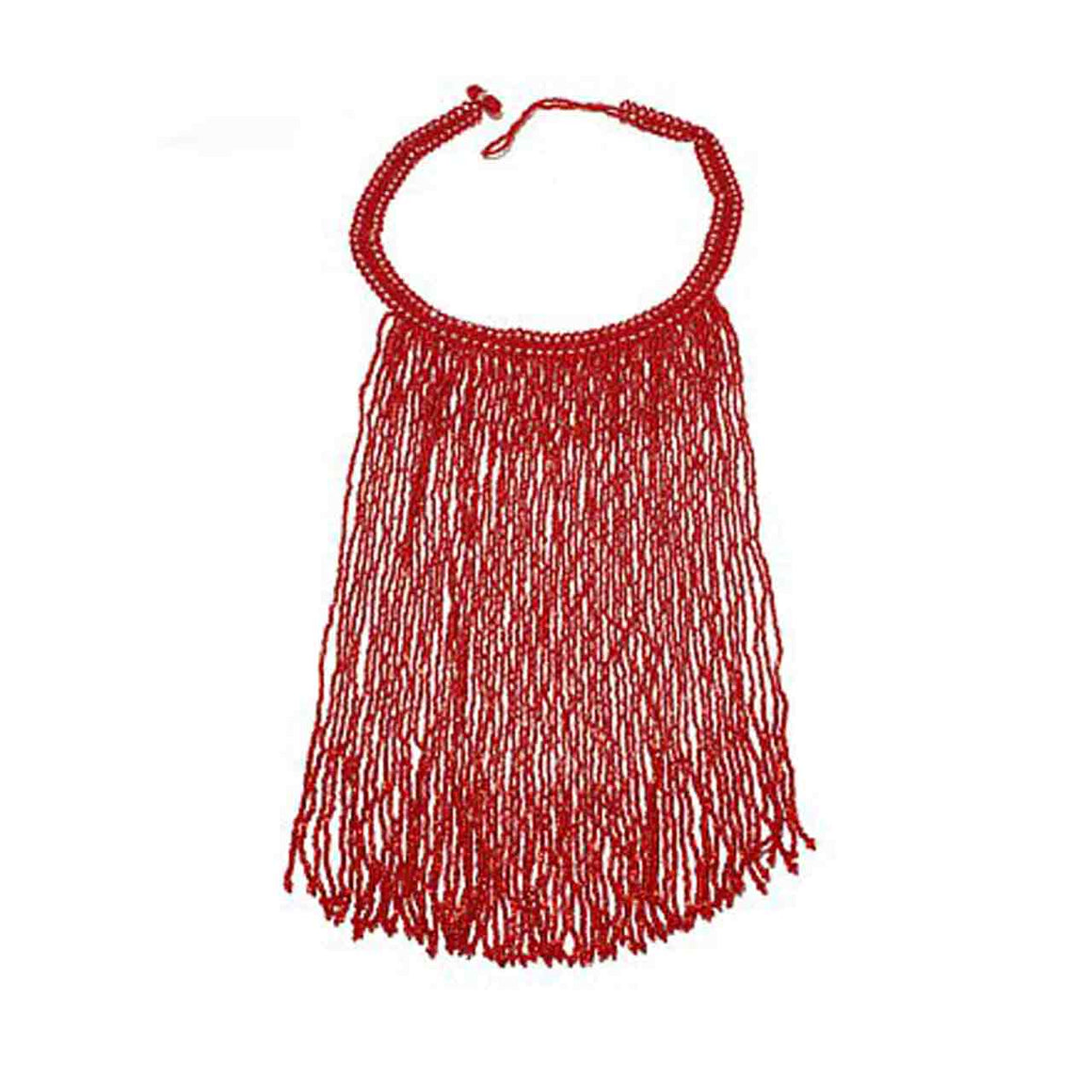 Red Potay Fringe Necklace