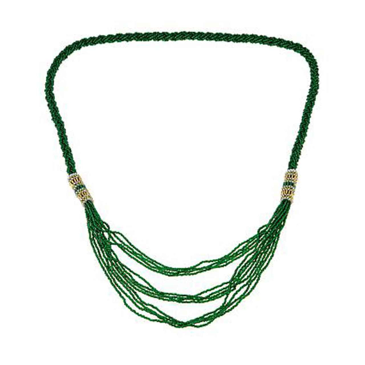 Emerald Colour Braided Waterfall Potay
