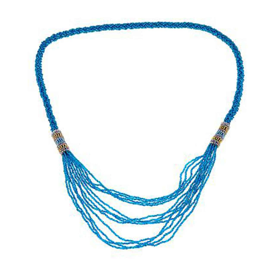 Blue Topaz Colour Braided Waterfall Potay