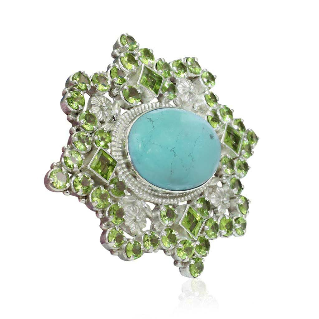 Peridot and Turquoise Pin/Pendant