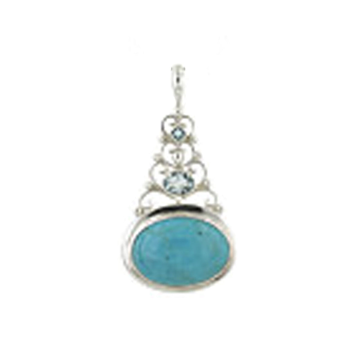 Arizonia Turquoise and Blue Topaz Pendant