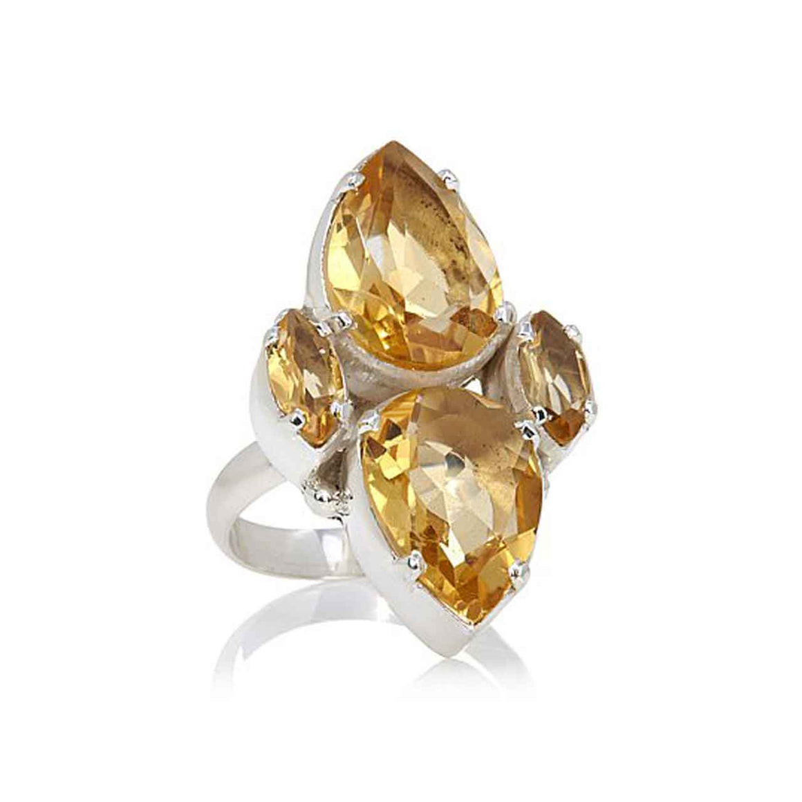 Citrine Multi Gemstone Ring
