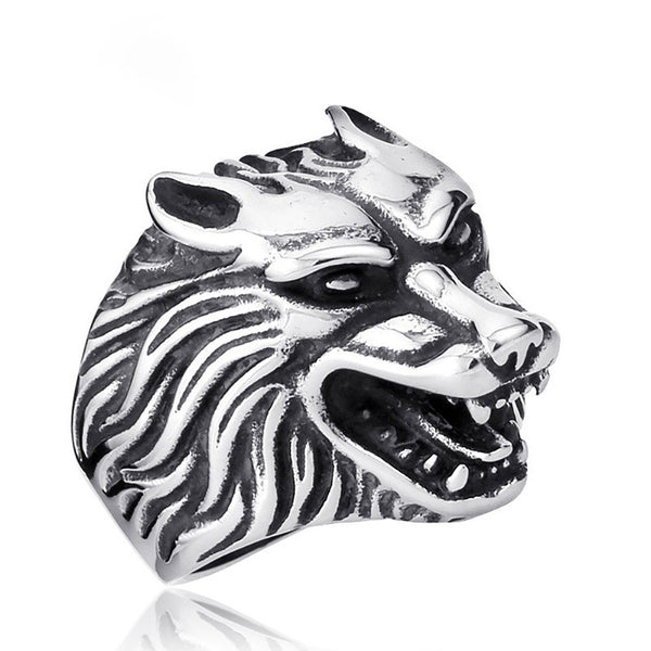 Wolf's Head Ring - Spirit of The Wolf