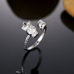 Sterling Silver Royal Skull Ring - Skulltimate