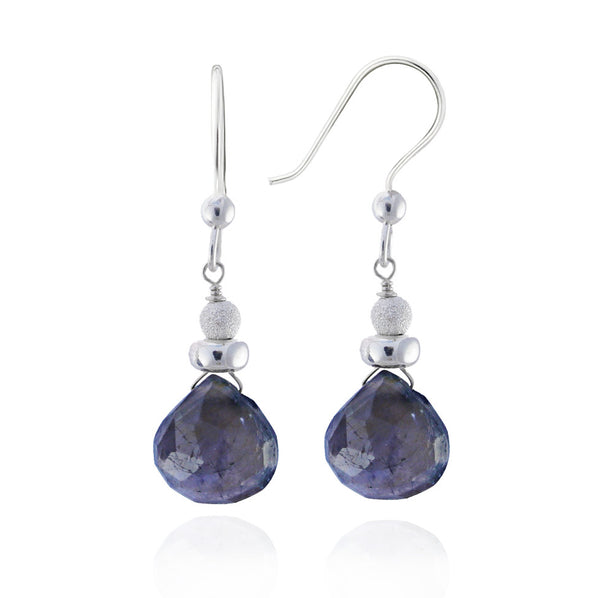 Silver Iolite Earrings