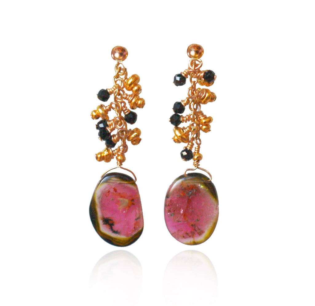 Limited Edition Tourmaline & Black Spinel Earrings