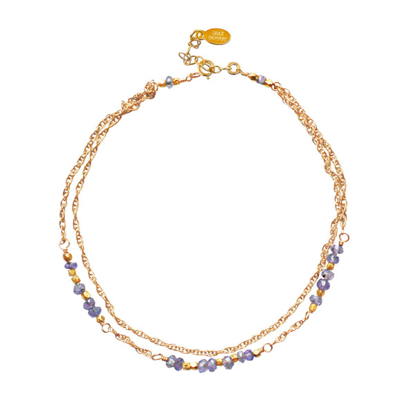 Gold Tanzanite Layered Bracelet