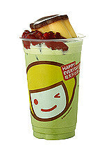 Red Bean & Pudding Matcha Latte Milk Tea (红豆布丁抹茶拿铁)