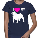 I Love My Bulldog T-Shirt