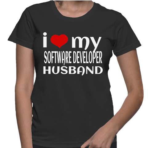 I Love My Software Developer Husband T-Shirt
