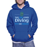 This Girl Loves Diving With Her Husband Hoodie