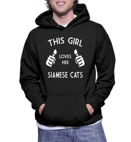 This Girl Loves Her Siamese Cats Hoodie
