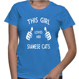 This Girl Loves Her Siamese Cats T-Shirt